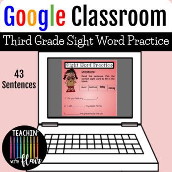Google Classroom- Third Grade Sight Word Practice