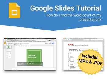 gc tutorial how do i find the word count in google slides tpt