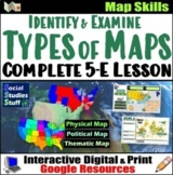 Google Classroom | Types of Maps Lesson | Map Skills | Dis