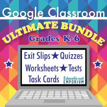 Ultimate Google Classroom Math Bundle, Interactive Digital Math: Grades 2-6