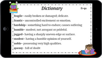 Google Classroom: Using a Dictionary