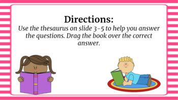 Google Classroom: Using a Thesaurus