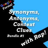 Google Classroom Vocabulary Activities with Context Clues