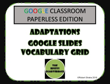 Google Classroom Adaptations Vocabulary