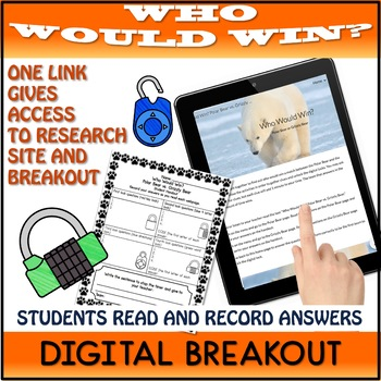 Google Classroom™ Who Would Win Digital Breakout Polar Bear vs Grizzly Bear