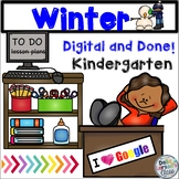 Google Classroom Winter Digital and Done CVC Words, and Si