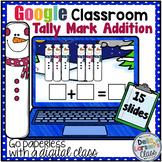 Google Classroom Winter Tally Mark Addition