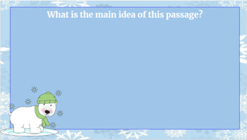 Google Classroom: Winter Themed Comprehension Passages and  Questions