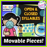 Google Classroom Activities Word Work Bubbles: Open & Closed Syllables