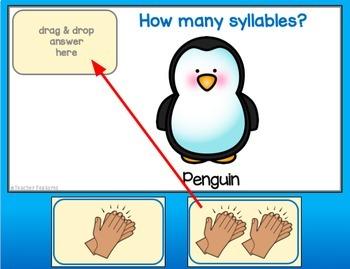 Google Classroom Reading Syllable Counting (Syllable Segmenting)