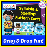 Google Classroom Activities Syllables, Word Work and Spelling Patterns