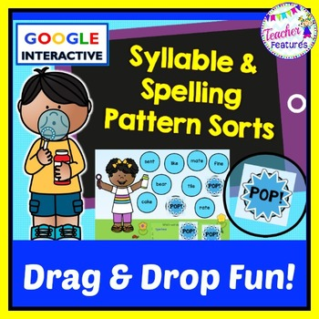 Google Classroom Activities | SYLLABLES | WORD WORK | SPELLING PATTERNS