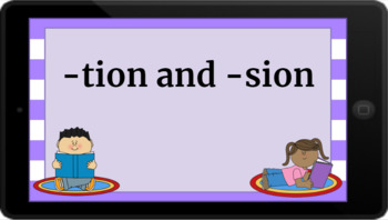 Google Classroom: Word Work- tion and sion