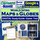 Google Classroom | World Map & Continents Intro | Study Gu