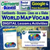 Google Classroom | World Map & Lines on a Globe Lesson | D