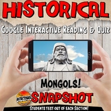 Google Classroom Yuan or Mongols Snapshot Interactive Reading Activities & Quiz