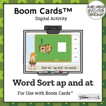 Google Classroom -ap and -at word sort (Digital Resource)