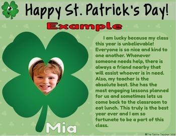 St. Patrick's Day ☘ Collaborative Book in Google Slides™