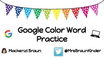 Google Color Word Practice