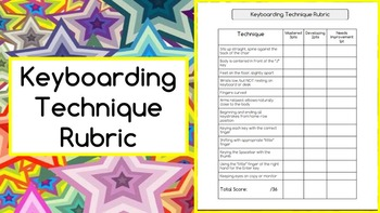 Computer Keyboarding Technique Rubric and Presentation -- Google