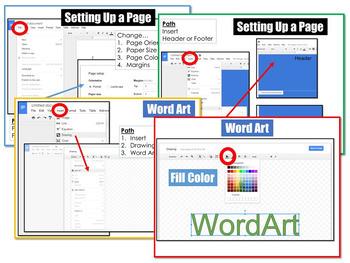 Google DOCS Page Setup and Word Art