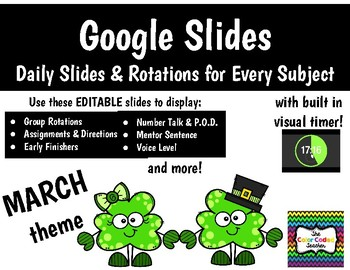 Google Daily Slides & Rotations - March Theme