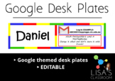 Google Desk Plates