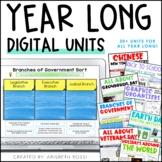 Social Studies Digital Activities Bundle {Year Long Units}
