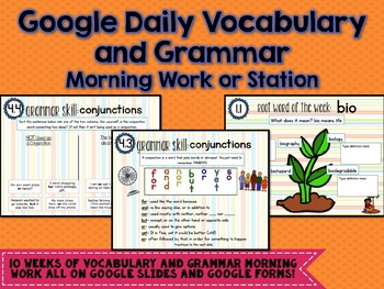 Google Digital Daily Language Interactive Notebook - Morning Work or Station