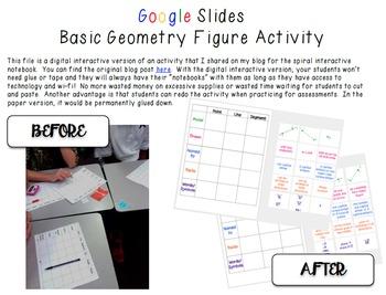 Google Digital Interactive Basic Geometry Figures Activity