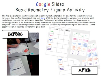 Google Digital Interactive Basic Geometry Figures Activity