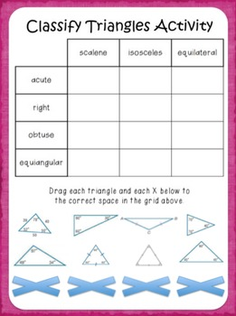 Google Digital Interactive Classify Triangles Activity