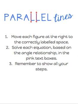 Google Digital Interactive Parallel Lines Flashcard Activity