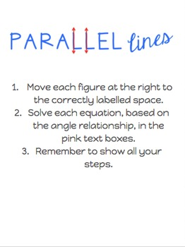 Google Digital Interactive Parallel Lines Flashcard Activity