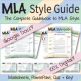 Google Digital | MLA Format Style Guide | Guide, Worksheets, Presentation, etc.