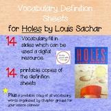 Google Digital & Printables Vocabulary Definition Sheets f
