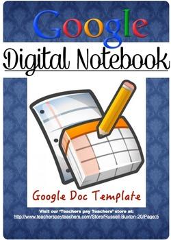 Google Digital Workbook Template