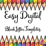 Digital Blank Letter Templates