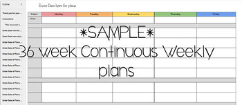 Google Doc-Continuous Weekly Layout 36 weeks!