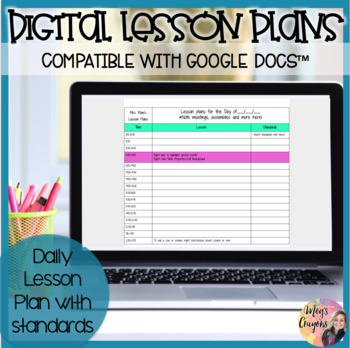 Google Doc-Daily Lesson Plan Template
