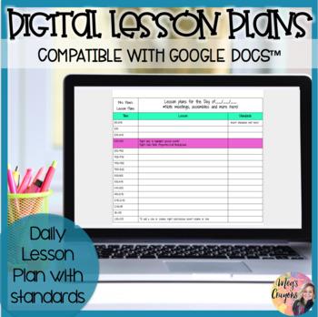 Google Doc Lesson Plan Template Teaching Resources Teachers Pay