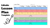 Google Doc Editable Lesson Plan Template - Distance Learning