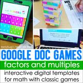 Google Doc Games: Factors and Multiples