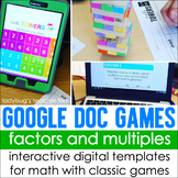 Google Doc Games: Factors and Multiples