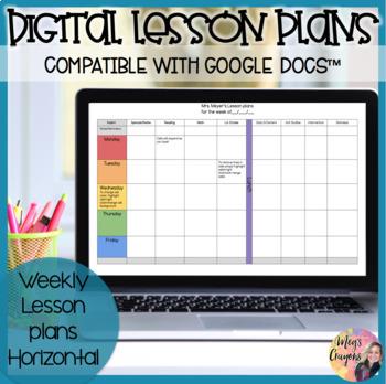 Google Doc-Horizontal Weekly Plan Template