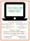 Google Doc Key Board  Short Cut Posters