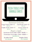 Google Doc Key Board  Short Cut Posters