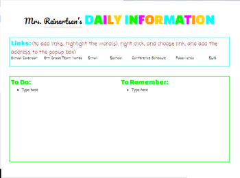 Google Doc: Student Interventions by Class & To Do Lists