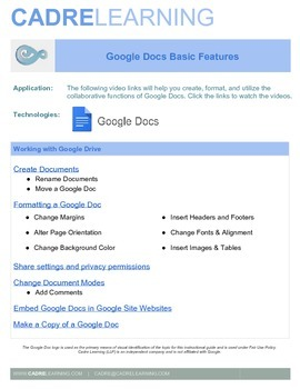 google docs instructional videos by cadre learning tpt