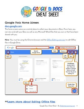 Google Docs Cheat Sheet for Teachers and Students